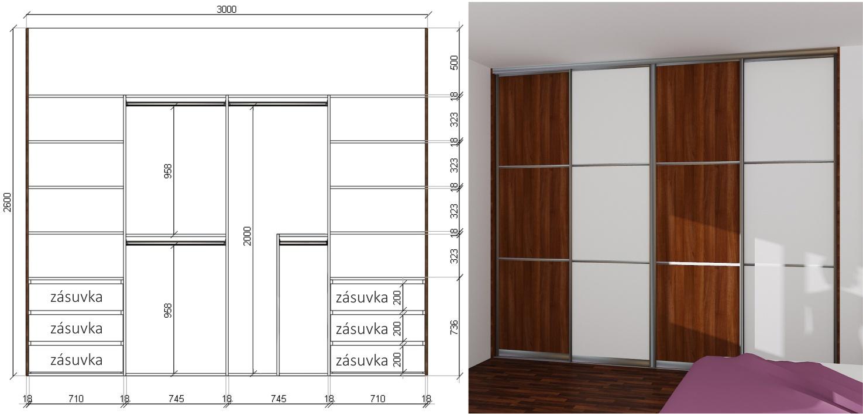 ukázková kalkulace vestavěné skříně